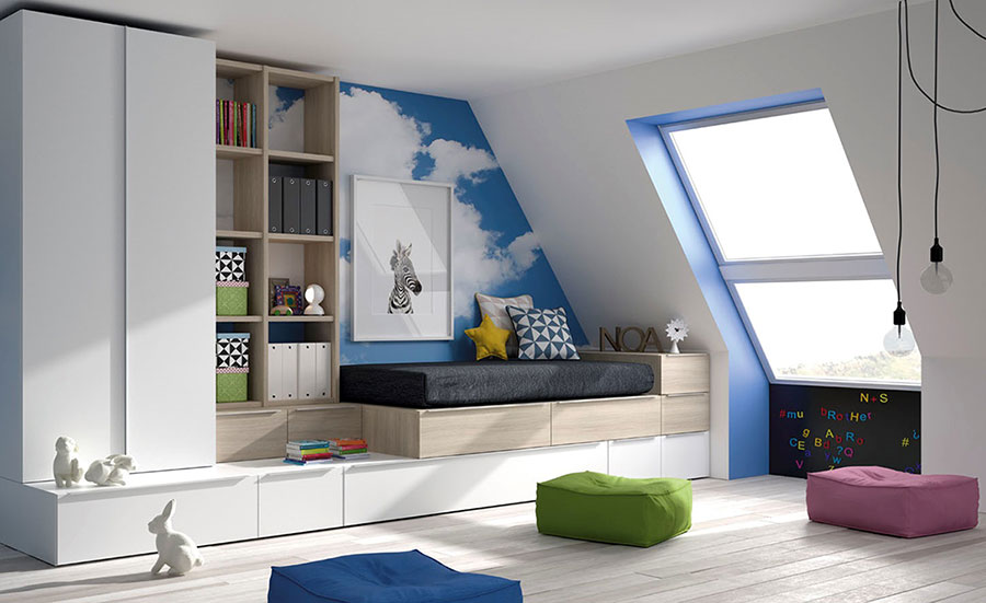 Dormitorio Juvenil Buhardilla