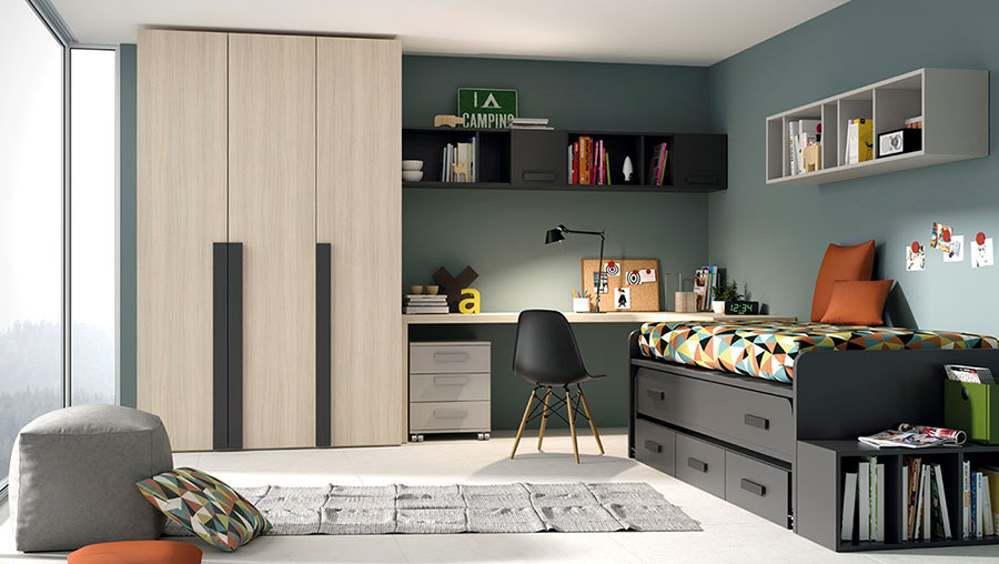 JJP Dormitorio Juvenil Cama Nido